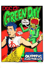 Green Day Poster The Riverdales 1995 Original Silkscreen Art Print by Coop S/N