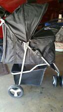 Paws & Pals 3 Wheeler Pet Stroller - Black