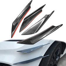 Glossy Carbon Fiber Car Bumper Fin Canard Splitter Diffuser Valence Spoiler Lip`