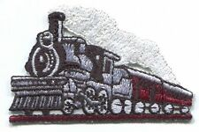 TRAIN steam locomotive EMBROIDERED IRON-ON PATCH *Free Shipping* railroad engine