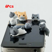 6pcs Cheese Cat 3.5mm Anti Dust Earphone Jack Plug Stopper Cap for Iphone  ET
