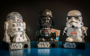 STAR WARS Galerie Candy Dispensers VADER, STORMTROOPER + R2-D2 NEW!