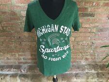 Creative Apparel NCAA femminile di Michigan State Spartani T-shirt Green Grandi