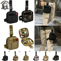 Tactical Emergency Medical Thigh Bag First Aid Kit Leg Drop IFAK MOLLE Pouch EMT