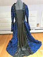 Victorian Choice women cotton blend blue  Renaiassance Victorian gown size XL