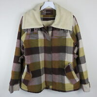 Sessun Wool Blend Plaid Sherpa Lined Fort Ross Jacket - Women's Size Large