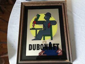 Rare vintage Dubonnet mirror A.M.Cassandre pub advertising man cave retro