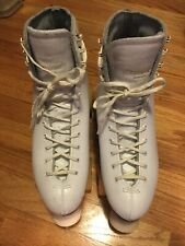 White Leather Dominion Roller Skates Sure Grip Century 6 Women Size 10 EUC