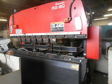 Amada Cnc Press Brake 1998 Rg 80 3 Axis Cnc Back Gage Excellent Condition
