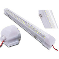 1/2x 72LED Interior Lights Strip Bar Car Van Bus Caravan ON/OFF Switch 12V White