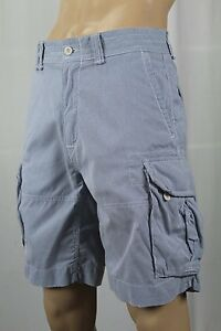 Polo Ralph Lauren Blue Pinstriped Cargo Shorts NWT