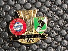 PINS BADGE FOOTBALL ASSE SAINT ETIENNE VS FC BAYERN MUNCHEN 1975 / 1976 DORE