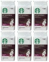 Case of 6 Starbucks Sumatra Dark Roast whole bean Coffee 12-Oz Bags EXP:11/2019