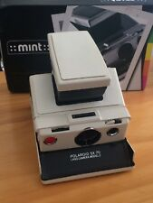 Polaroid SX-70 Land Camera Model 2  & White Leather Case -