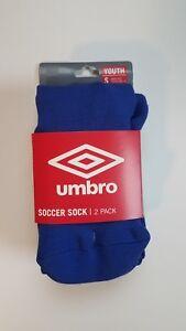 Umbro Soccer Socks (2-Pack) Youth Small (New) Royal