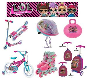 Lol Surprise Folding In Line Scooter, Suitcase, Bike, Helmet - FAST DELIVERY