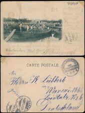 CHINA 1901 PPC TIENTSIN GERMAN MILITARY FPO FELDPOST