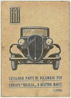 FIAT Balilla 4 marce  – CATALOGO PARTI DI RICAMBIO  – Spare Parts!