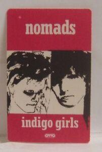 INDIGO GIRLS - VINTAGE ORIGINAL CONCERT TOUR CLOTH BACKSTAGE PASS