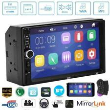 Double 2Din Car Stereo 7inch Touch Screen Bluetooth AUX U Disk FM Radio w/Remote