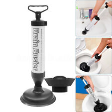 Drain Buster Plunger Hand Power Bath Toilet Plug Sink Pump Tool Cleaner Suction