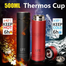 500ml Stainless Steel Insulated Tea Bottle Water Mug Vacuum Cup Portable  r ◍