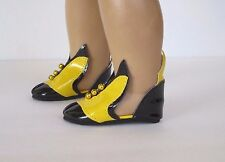 Black/Yellow VILLIAN SHOES fits American Girl - Great for Costumes, Witches...