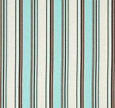 55% Cotton 45% Linen Fabric - Folly Stripe 8 Yards Sewing 54 Wide - Tide Pool