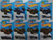 2015 Hot Wheels Mainline: BATMAN Batmobile SERIES - Complete Set of 8 Cars - LOT