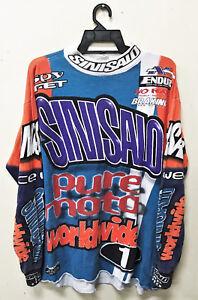 VINTAGE SINISALO RACING MOTO X MOTOCROSS JERSEY T-SHIRT AMA DIRT BIKE
