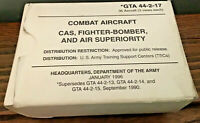 Combat Aircraft CAS Fighter Bomber GTA 44-2-17 Flashcards Army Free Shipping