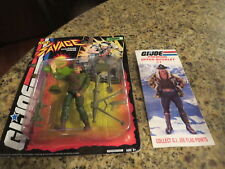 GI JOE FIGURE SGT.SAVAGE ON CARD AND BOOKLET