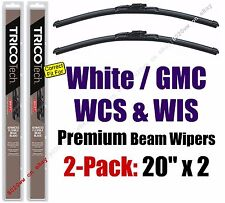 Wiper Blades 2-Pack Premium - fit 1991 White GMC WCS WIS - 19200x2
