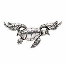 Large Sterling Silver Hawksbill Sea Turtle Pendant