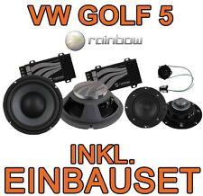 VW GOLF V 5 PLUS RAINBOW 3-WEGE LAUTSPRECHER BOXEN EINBAUSET VORNE FRONTSYSTEM