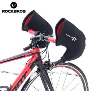 RockBros Winter Gloves Road Bike Handlebar Mittens Hand Warmers Covers Black