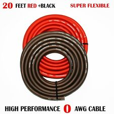 1/0 Gauge Wire RED/BLACK , Amplifier Power/Ground  Amp Wire 20 Feet Cable Roll