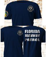New Florida Highway Patrol Police Department SWAT Navy T-Shirt S-4XL