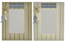Wooden Seaside Beach Memories Mirror Shabby Chic Nautical Choice of 2 Designs
