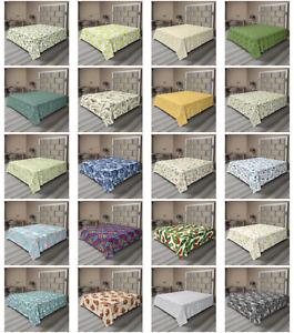 Ambesonne Botanical Print Flat Sheet Top Sheet Decorative Bedding 6 Sizes