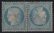 """FRANCE STAMP TIMBRE N° 37 c """" CERES 20c BLEU PAIRE TETE BECHE """" NEUF x TB  K661"""