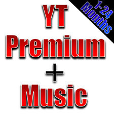 1-24 Months YT Premium & Music Upgrade YOUR Account WORLDWIDE FAST