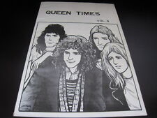 Queen Times 4 Japan Fanzine Book in 1975 Freddie Mercury Brian May Roger Taylor