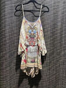 Camilla Flared Playsuit Size M