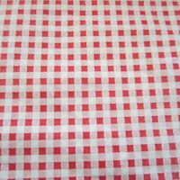 50cm x 140cm Vintage fabric 1950s Red White Check Gingham-look Vinyl bag lining