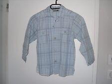 GARÇON chemise tendance de marque taille 6 ans mode à carreaux manches longues
