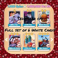 Coin Master Full Route 66 Set, Bar Hopper, Hot Rod (X6 White Cards) ( Fast Send)