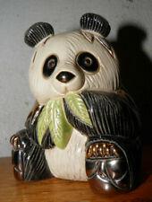 Vintage De Rosa Panda Bear Figure Artesan Enamel Rinconada Gold Uruguay Rare