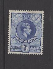 SWAZILAND GEORGE VI 3d BLUE MOUNTED MINT