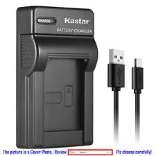 Kastar Battery Slim Charger for Kodak KLIC-5001 & Kodak 1054062 1064062 Camera